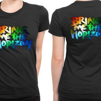 Bring Me The Horizon Title Colourize 2 Sided Womens T Shirt