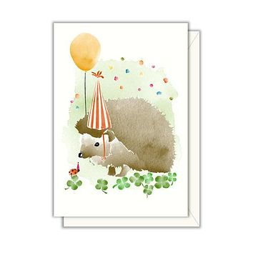 Hedgehog Party Enclosure Card