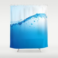 Full of Water Shower Curtain by allisone