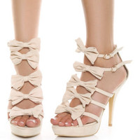Privileged Bonita Blush Pink Strappy Bow Pumps - $39.00
