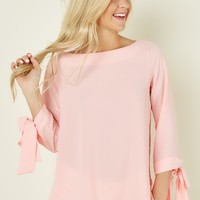 Easygoing Elegance Pink Top