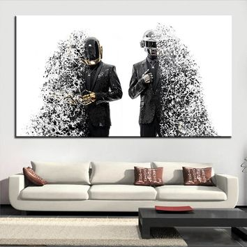Large size Printing Oil Painting daft punk splashed Wall painting Decor Wall Art Picture For Living Room painting No Frame
