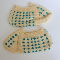 Ready to ship -WOMAN SLIPPER SOCKS Hand Knitted Slippers, Anatolian Socks, Knitted Slippers, Handmade Slippers, Autumn Accessories