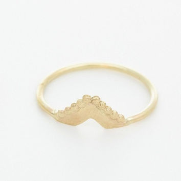 Gold triangle ring. Minimalistic 14k solid gold  ring. Small gold ring. Ring for her. women pinky ring.