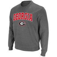 Georgia Bulldogs Arch and Logo Sweatshirt – Charcoal