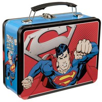 Superman Man of Steel Large Tin Tote - Vandor - Superman - Tin Totes at Entertainment Earth