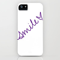 Purple Smile iPhone & iPod Case by emain
