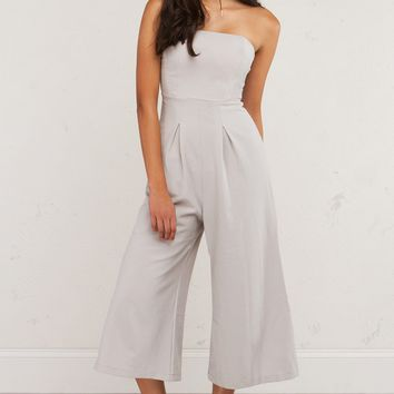 Strapless Wide Legged Jumpsuit