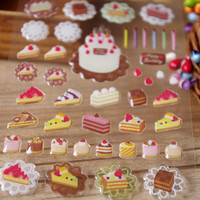 Desset cake party sticker bakery shop Handmade cake shop seal sticker colorful fancy cake cookie icon food label cooking recipes note book