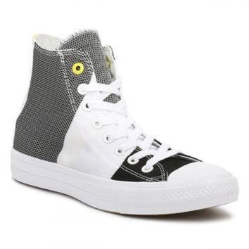 DCKL9 Converse All Star Chuck Taylor II Mens White/Black/Fresh Yellow Trainers