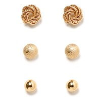 Sale-metal Basic Earring Set