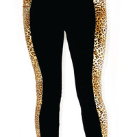 Leopard Panel Leggings