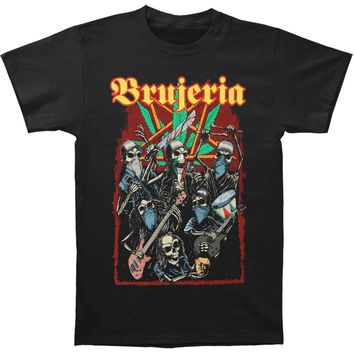 Brujeria Men's  Skeleton Band Tour 2017 T-shirt Black