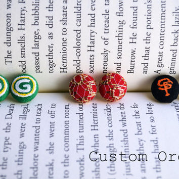 Custom Order Reserved for Maija - Sports Gifts - Niners - Giants - Packers - Earrings
