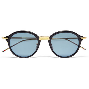 Thom Browne - Gold and Acetate Round-Frame Sunglasses | MR PORTER