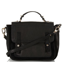 Suede And Leather Satchel