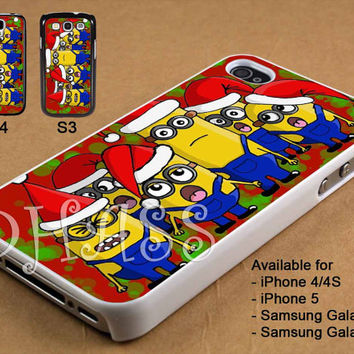 All Minion Christmas Design for iPhone 4/4s/5 Case, Samsung Galaxy S3/S4 Case