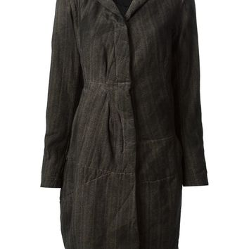 Rundholz striped distressed cinched waist coat