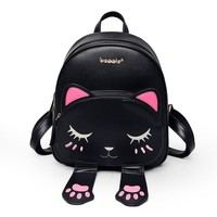 Japanese Anime Bag High Quality Cat Ears Backpack Female Funny PU Leather  Back to School Bag for Teenagers Girls Small Backpacks Mochila AT_59_4