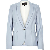 River Island Womens Light blue long sleeve fitted tailored blazer
