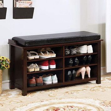 Tara Shoe Rack Bench With 6 Shelves
