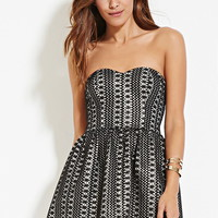 Sheeny Embroidered A-Line Dress