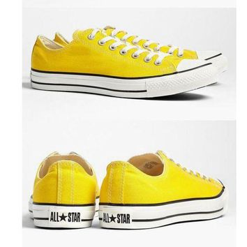 LMFUG7 Converse' Fashion Canvas Flats Sneakers Sport Shoes yellow