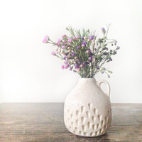 In stock ready to ship Ceramic vase home docor gift Handmade ceramic bud vase in speckled cream glaze