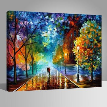 DIY Oil Painting By Numbers Acrylics Abstract Frame Wall Art Digital Pictures Color For Adults Kids  Hand Paint Romantic Night