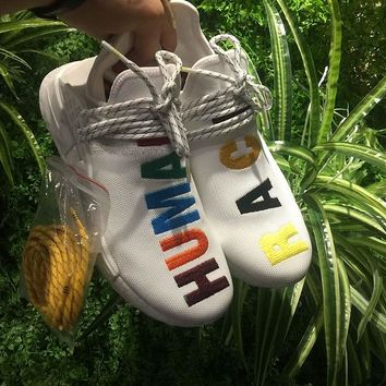 Best Online Sale Adidas Pharrell Williams NMD Human Race Birthday Colorful Sport Running Shoes Classic Casual Shoes Sneakers