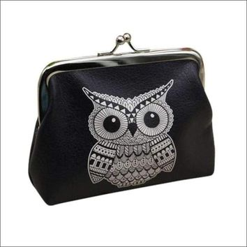 Ladies wallets and purses anime wallets Elephant Pattern purse for Owl Coin Purse