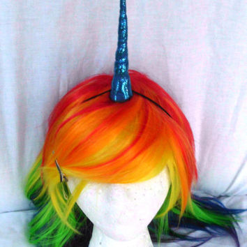 "Unicorn Horn, 5"", Any Color, Glitter Unicorn Horn, Sparkly Unicorn Horn, Horns, Headband, Mlp, unicorn costume, Party Favors, Narwhal horn"