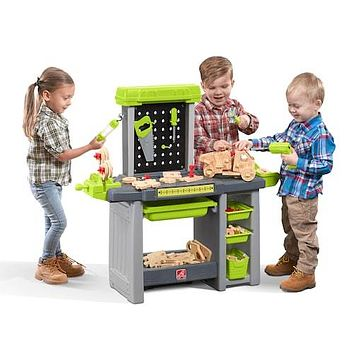 Step 2 Pretend Play Complete Interactive Toy Power Tools & Projects Workbench Playset