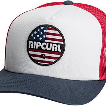 Rip Curl Men's 4Th Of July Trucker Hat, Red, One Size