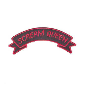 Scream Queen Zombie Horror Dead Patch Embroidery Patches For Jacket Sew On Patches