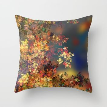 A Beautiful Summer Afternoon Throw Pillow by Klara Acel
