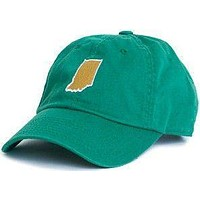 Indiana South Bend Gameday Hat in Green by State Traditions