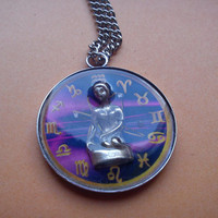 Astrological Sign 3D Virgo , Necklace,Pendant,Zodiac Charm, Astrology,horoscope,Birthday gift