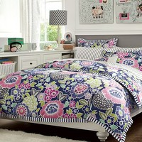 Chelsea Floral Stripe Bedroom