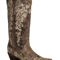 Corral Women's Bone Embroidery Western Boots
