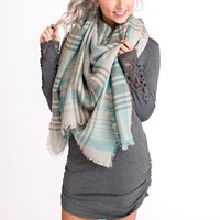 Deep Thoughts Blanket Scarf (Mint)