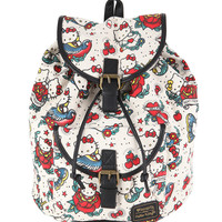 Hello Kitty Tattoo Medium Slouch Backpack