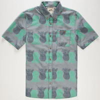 Vans Rusden Pineapple Mens Shirt Blue Combo  In Sizes