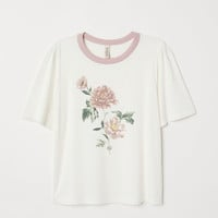 H&M T-shirt with Printed Design $14.99