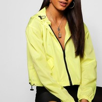Emma Crop Sports Jacket | Boohoo