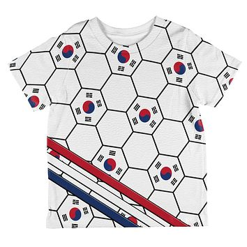 World Cup South Korea Soccer Ball All Over Toddler T Shirt