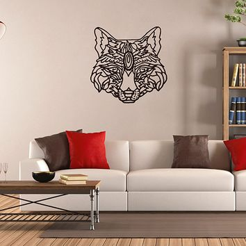 ik2942 Wall Decal Sticker animal fox living room bedroom
