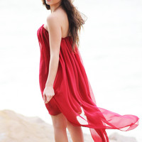 Asymmetrical Red Dream Dress