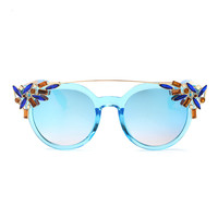 Crystal Twin Beam Sunglasses