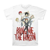 Bring Me The Horizon Men's  Sketch Pile Slim Fit T-shirt White